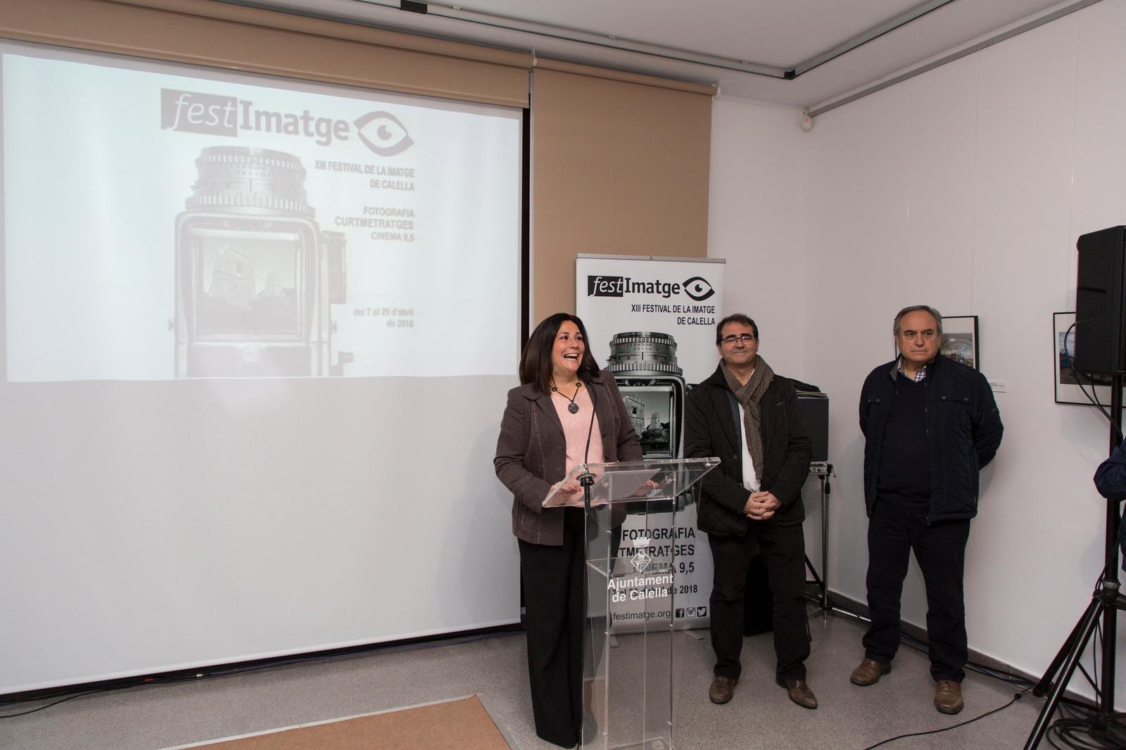 Presentación Inaguración Festimatge - Abril 2018 gabinete de prensa