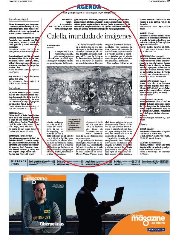 Festimatge - La Vanguardia, Abril 2012 gabinete de prensa