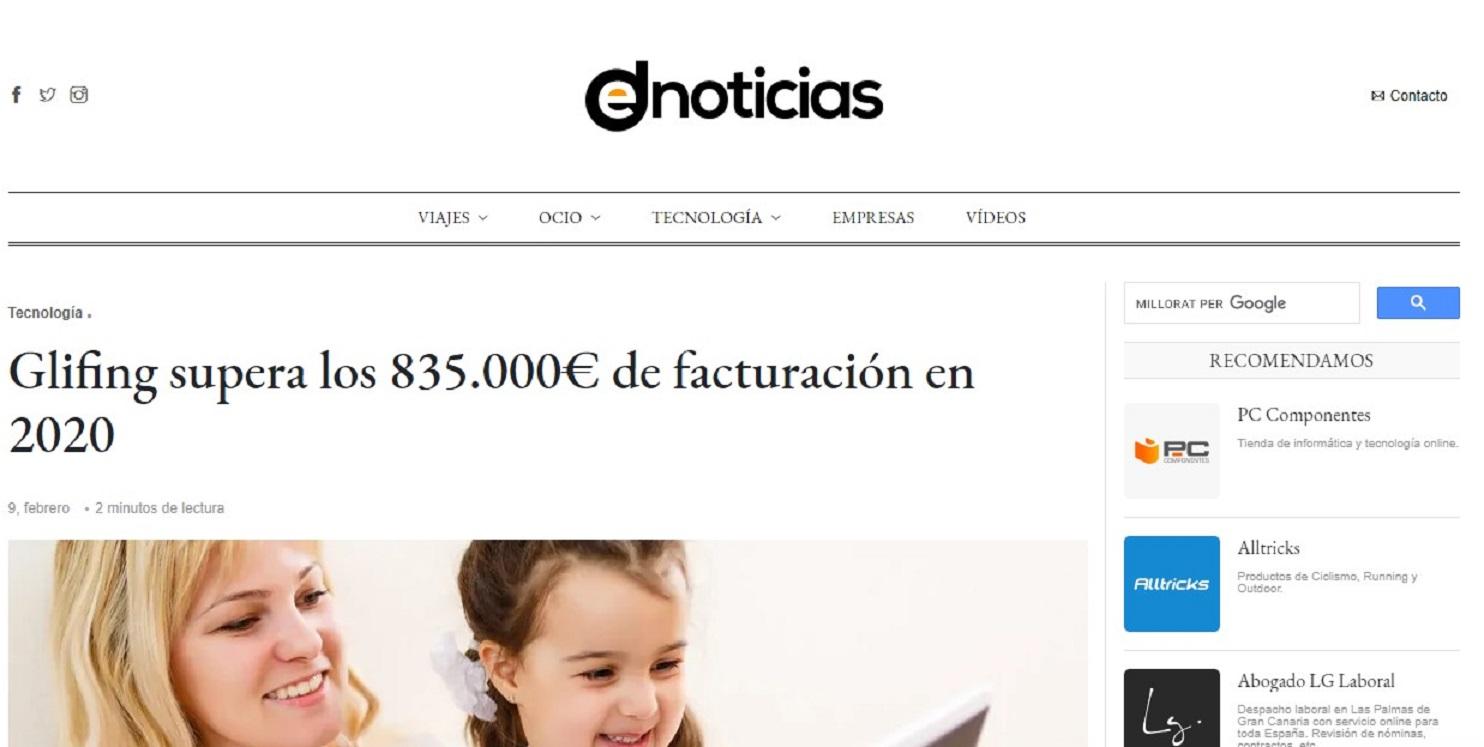 Glifing en Denoticias-09/02/2021 gabinete de prensa