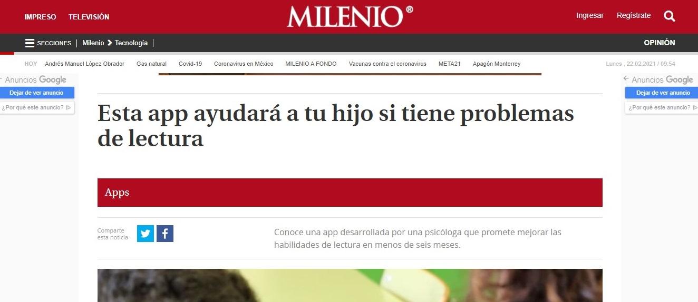 Glifing en Milenio- 15/03/2019 gabinete de prensa