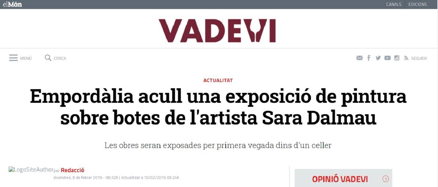 """Sara Dalmau en """"El Món Vadevi"""" - 08/02/2019 gabinete de prensa"""