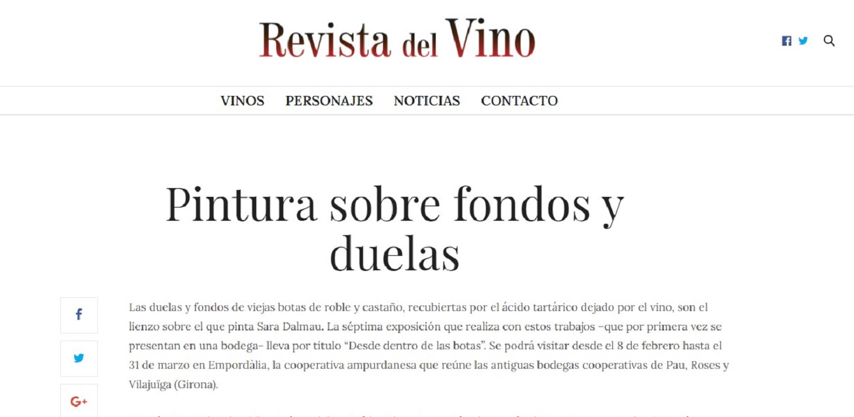 Sara Dalmau en la Revista del Vino -07/02/2019 gabinete de prensa