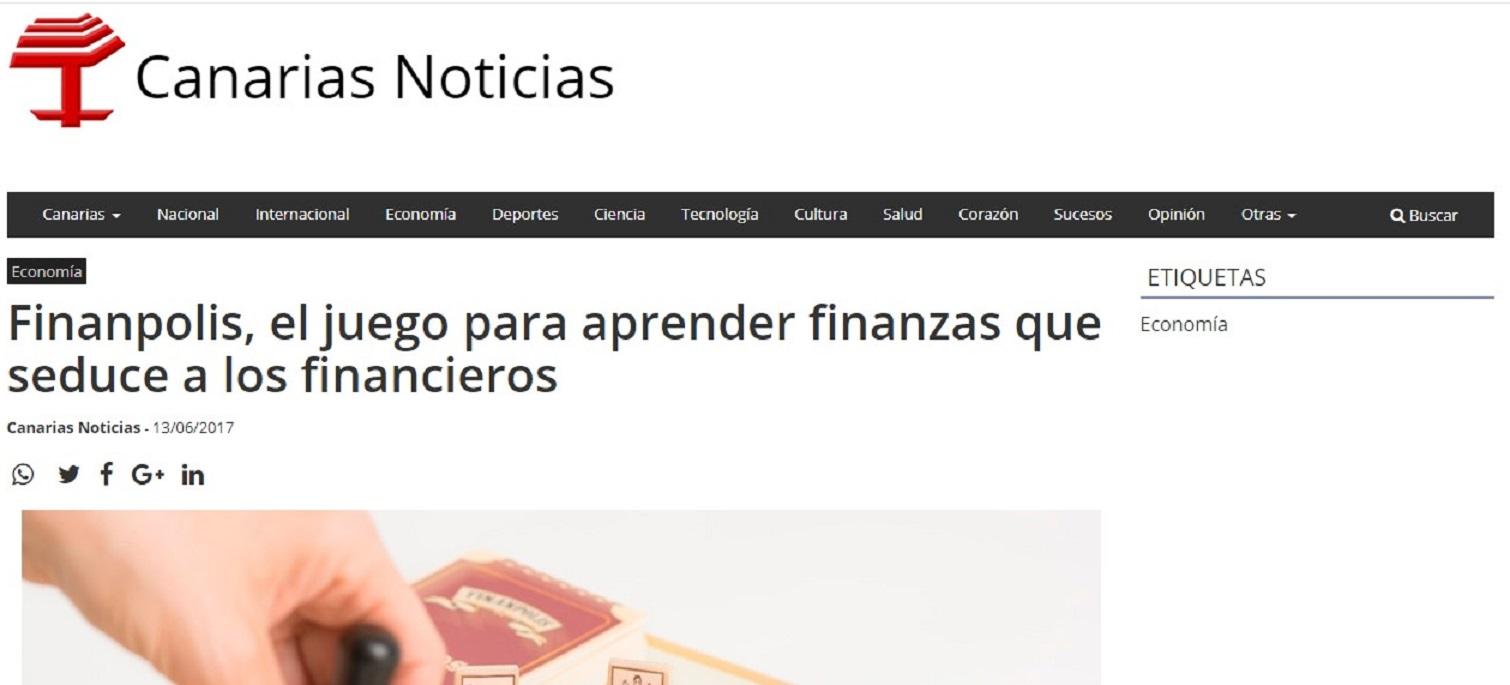 Finanpolis en Canarias Noticias - 13/06/2017 gabinete de prensa