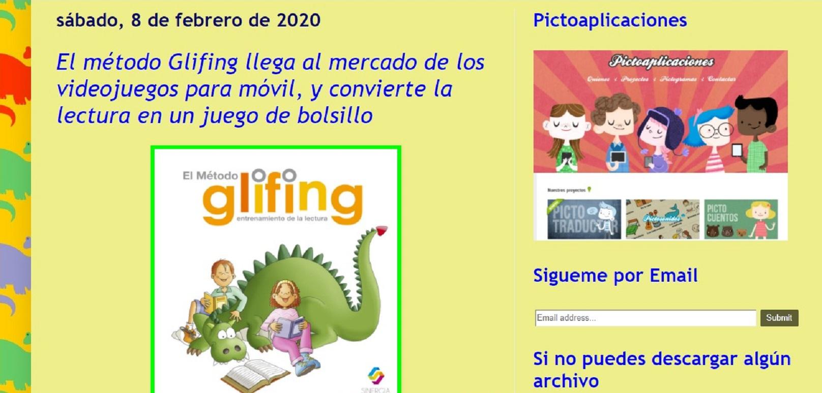 Glifing en el blog Logopedia en Especial- 08/02/2020 gabinete de prensa