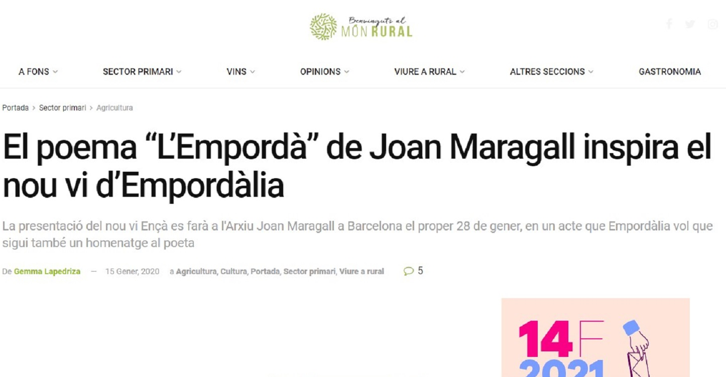 """Empordàlia en """"Món Rural""""- 15/01/2020 gabinete de prensa"""