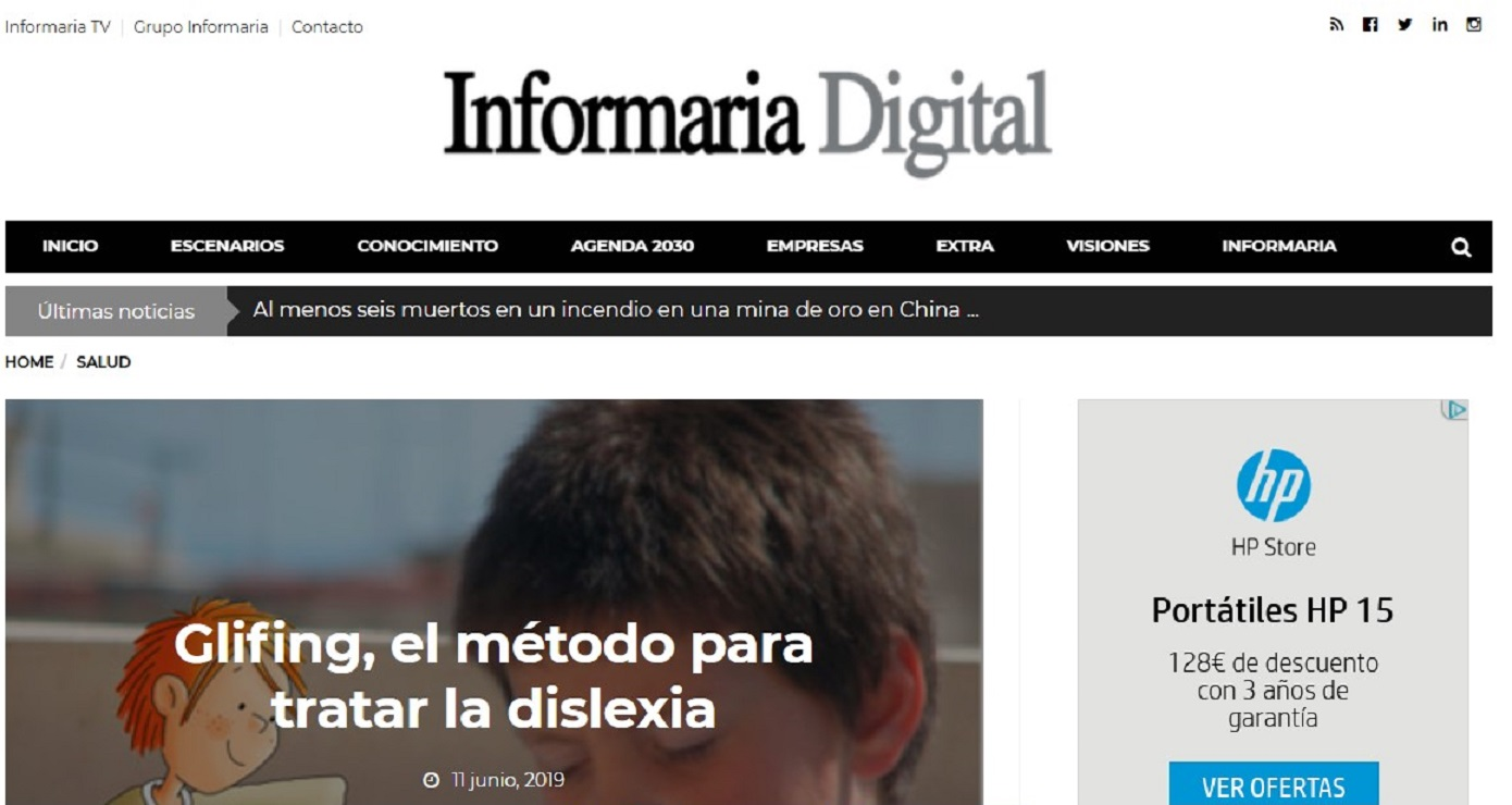 Glifing en Informaria Digital -11/06/2019 gabinete de prensa