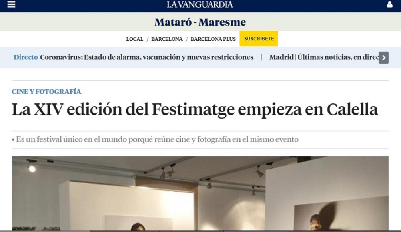 FESTIMATGE en la Vanguardia- 09/04/2019 gabinete de prensa