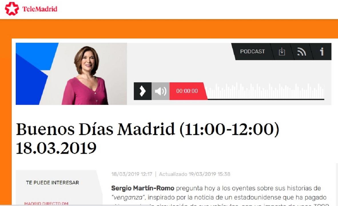 """Trip Troop Madrid, en el minuto 40'30"""" de """" Buenos días, Madrid""""-18/03/2019 gabinete de prensa"""