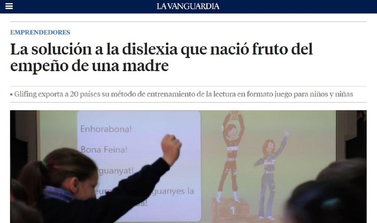 Glifing en La Vanguardia -16/04/2021 gabinete de prensa