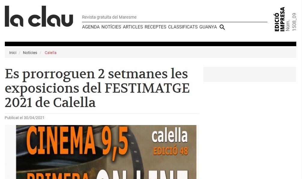 """FESTIMATGE en """"La Clau"""" - 30/04/2021 gabinete de prensa"""