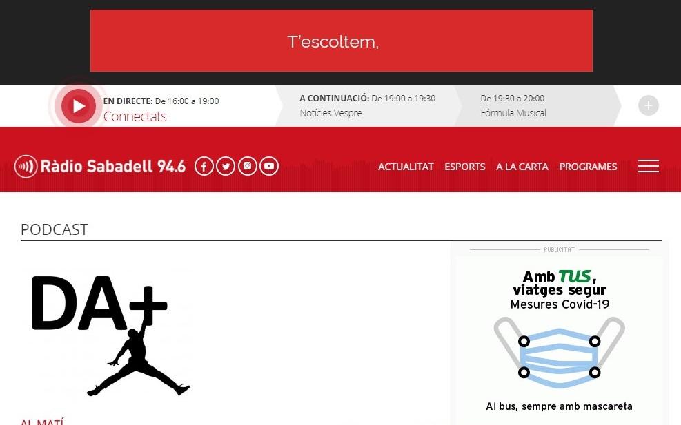 Som Base en Radio Sabadell - 04/05/2021 gabinete de prensa
