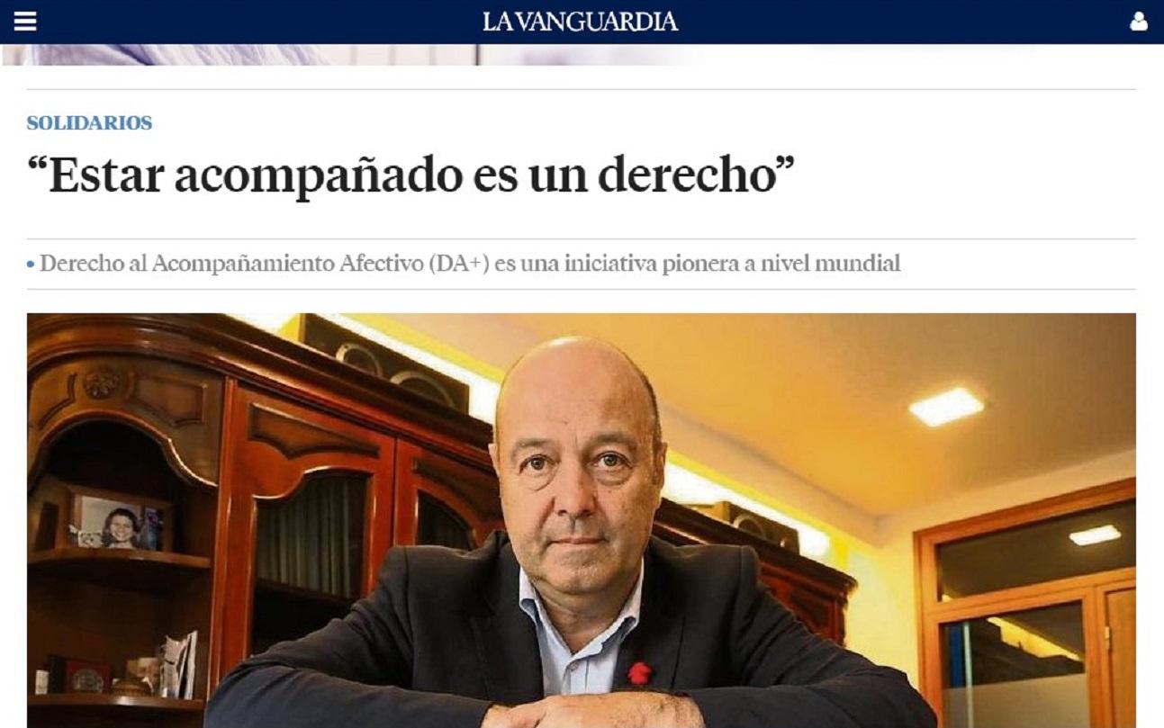 Som Base y su Derecho al Acompañamiento Afectivo DA+ en La Vanguardia -16/05/2021 gabinete de prensa