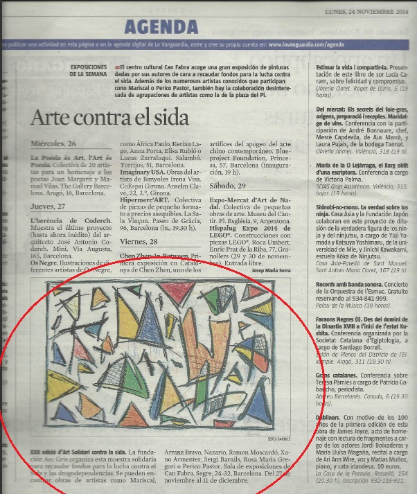 AEC Gris - La Vanguardia ,Novembre 2014 gabinete de prensa