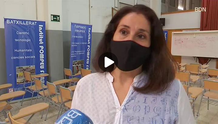 """Marta Hernández, periodista, amb el projecte Premsa a les Escoles del Col·legi de Periodistes (CPC) - Badalona TV, a partir del minut 8'50""""- 09/10/2020 gabinete de prensa"""