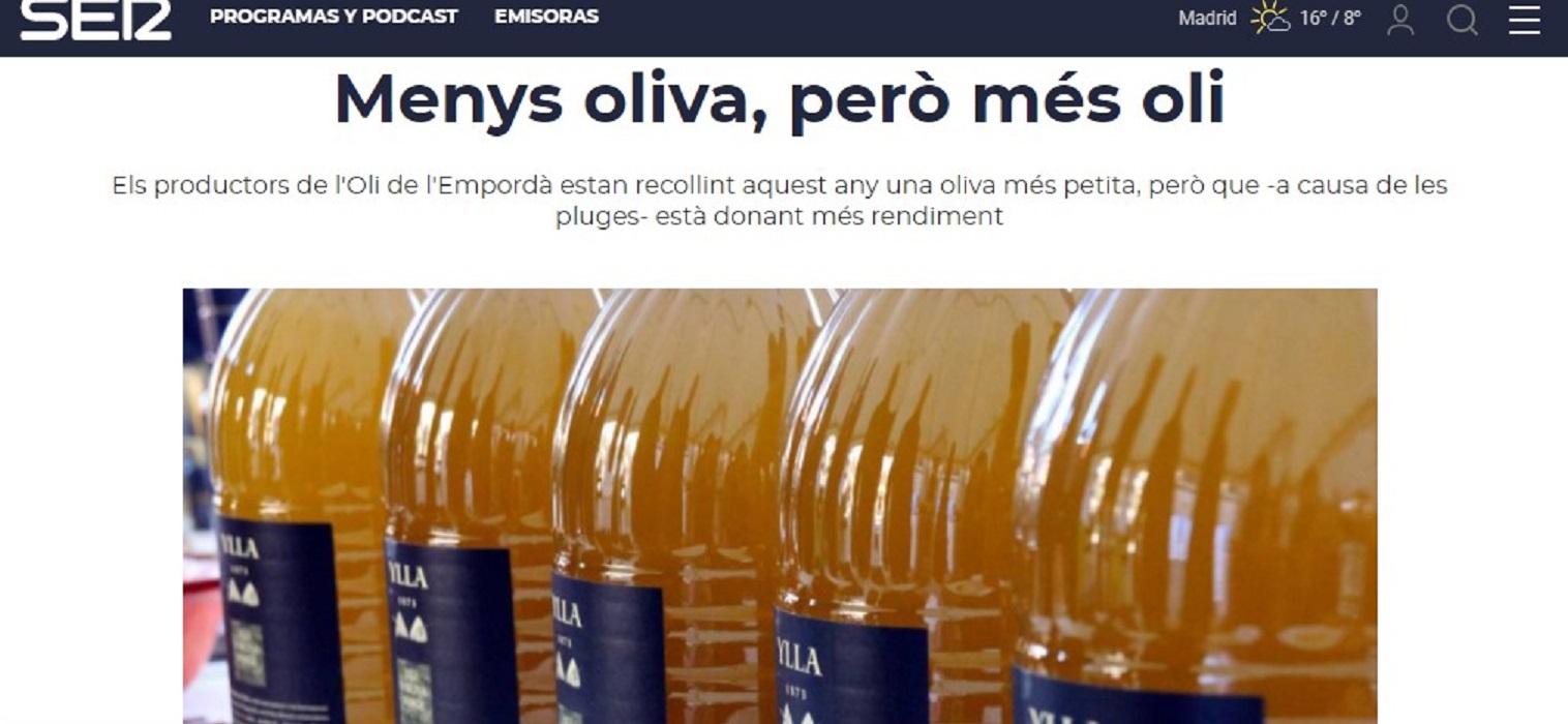 """Empordalia en Radio Girona Cadena Ser en el minuto 00'23"""" - 02/12/2020 gabinete de prensa"""
