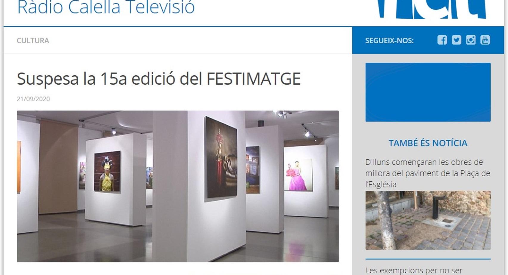 FESTIMATGE en Radio Calella TV - 22/09/2020 gabinete de prensa