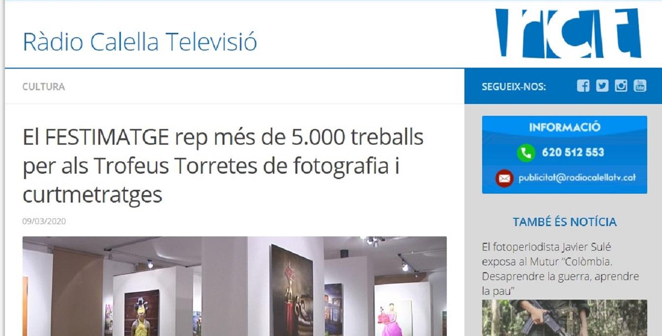 FESTIMATGE en Radio Calella TV- 09/03/2020 gabinete de prensa