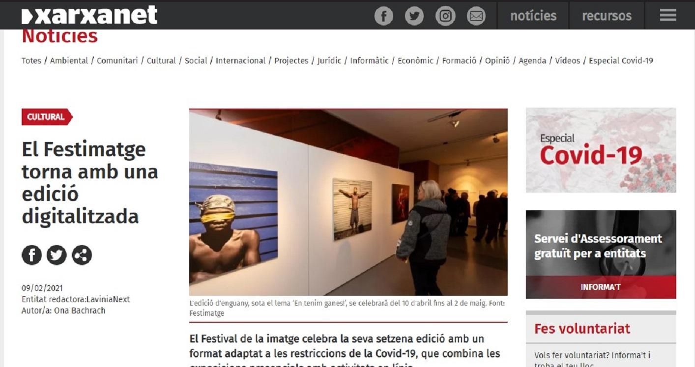 "FESTIMATGE, Festival de la Imagen de Calella en ""Xarxanet.org"" - 09/02/2021 gabinete de prensa"