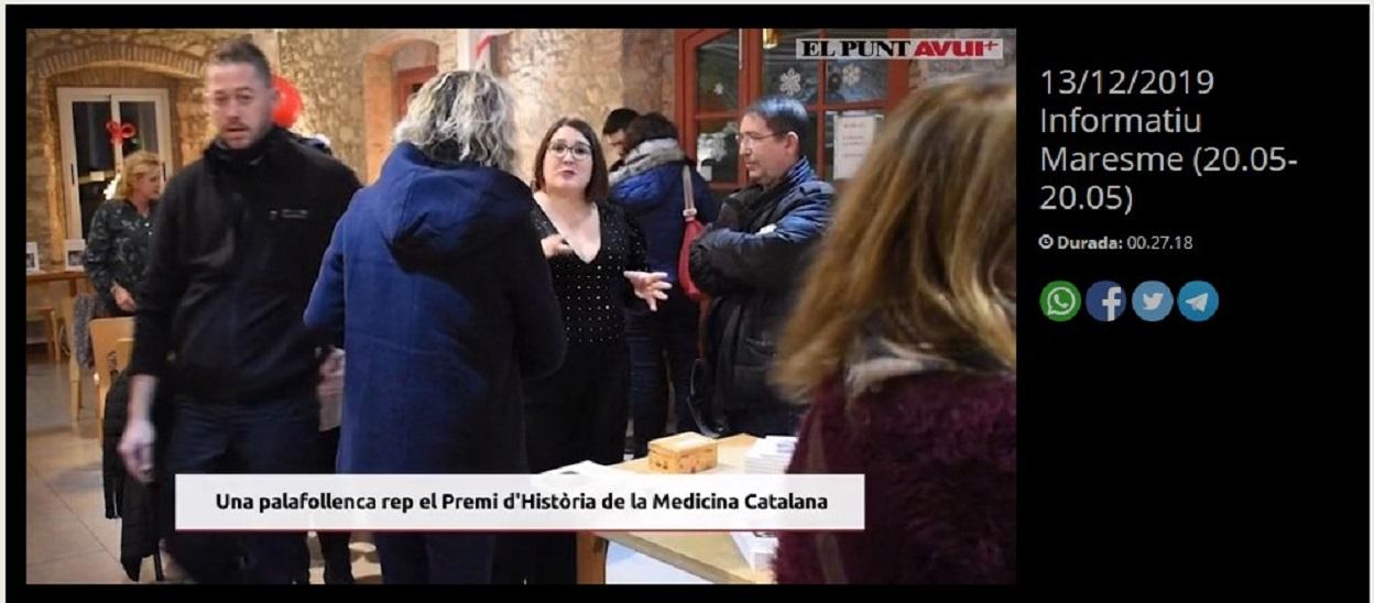 """Marta Carrasco en el Punt Avui , en el minuto 8'29"""" -13/12/2019 gabinete de prensa"""