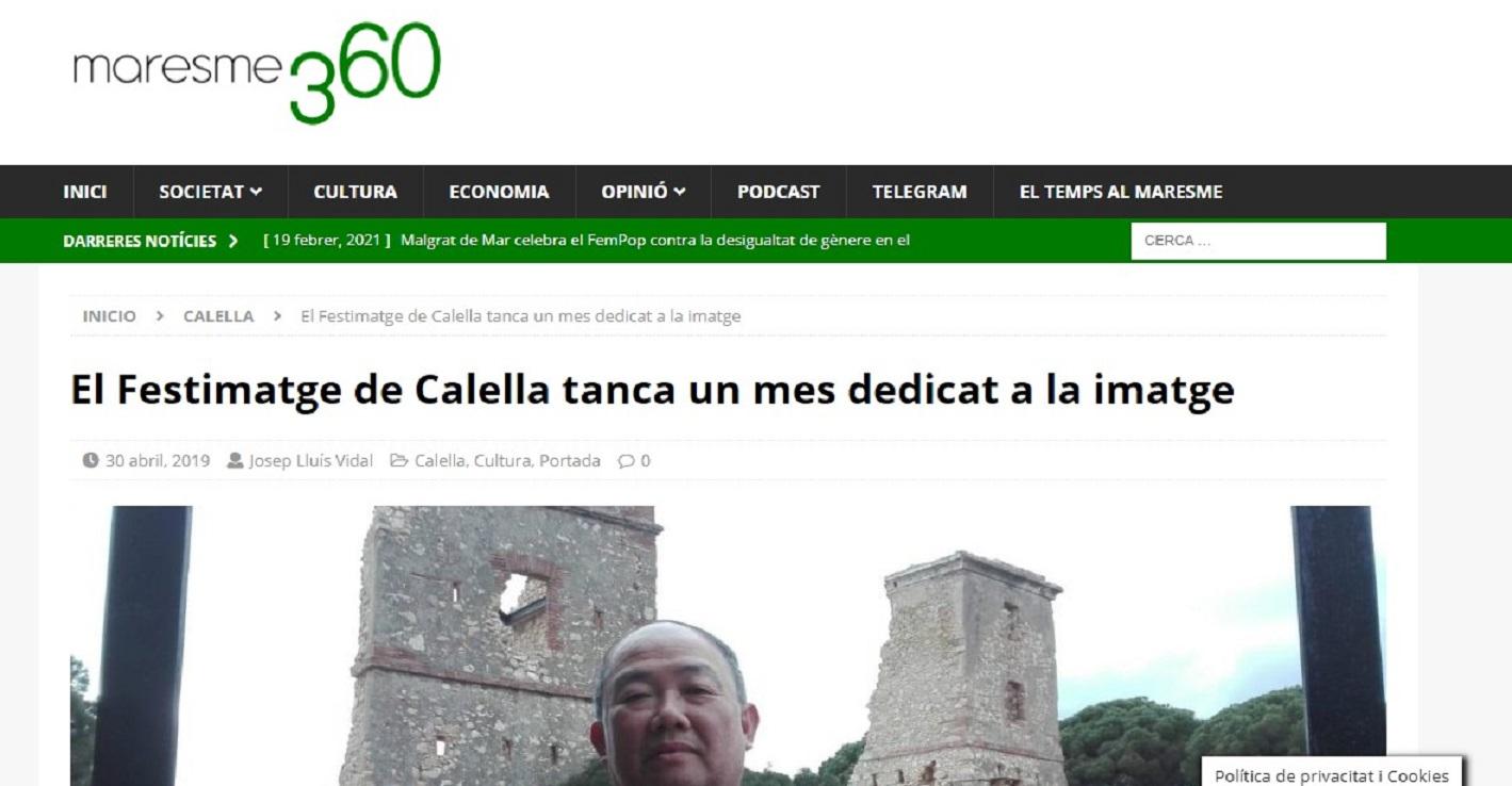 """FESTIMATGE en """"Maresme360"""" - 30/04/2019 gabinete de prensa"""