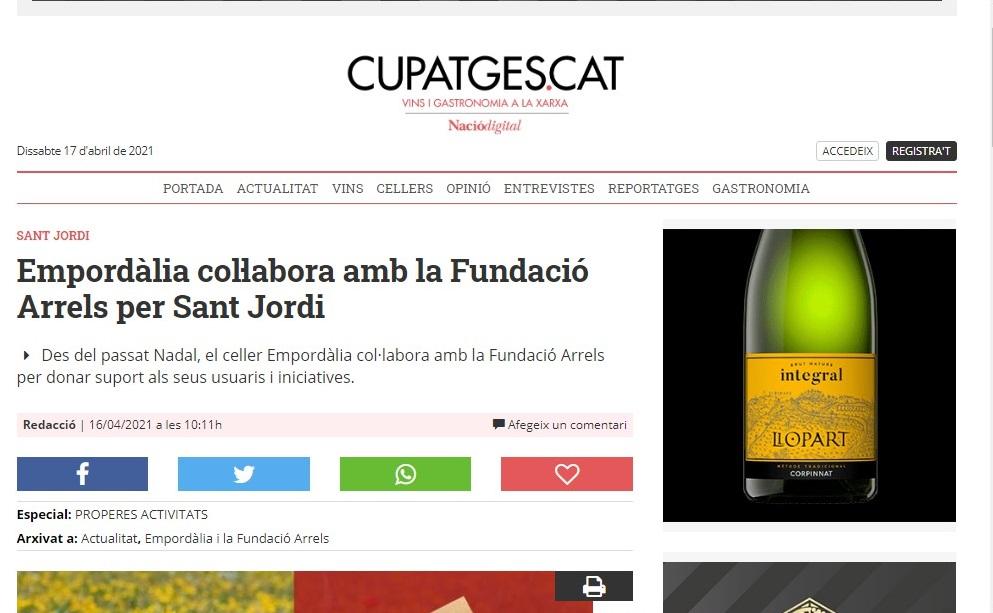 """Empordàlia en """" Cupatges de Nació Digital"""" - 16/04/2021 gabinete de prensa"""