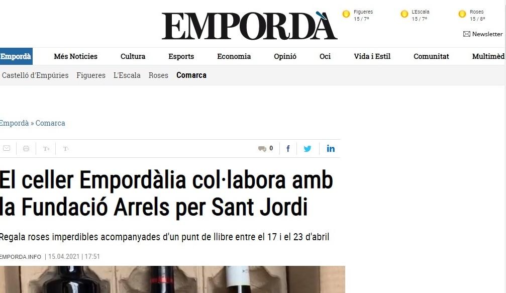 "La bodega Empordàlia en el ""Empordà""- 15/04/2021 gabinete de prensa"