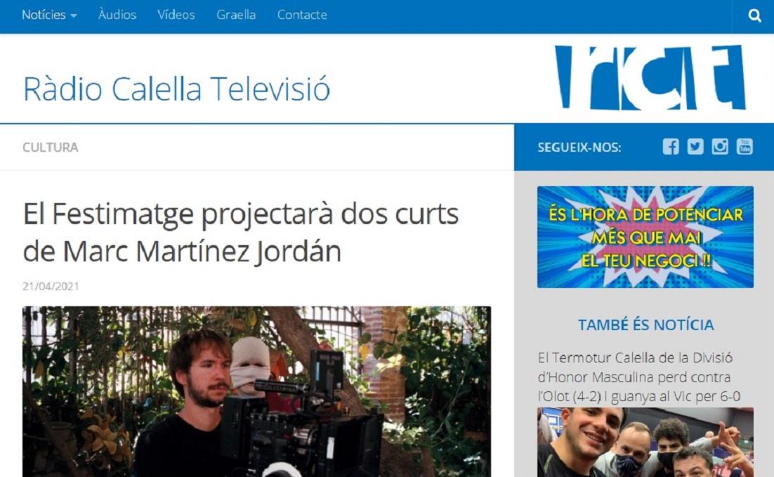 FESTIMATGE en Radio Calella - 21/04/2021 gabinete de prensa