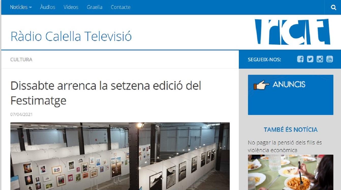 FESTIMATGE en Radio Calella - 07/04/2021 gabinete de prensa