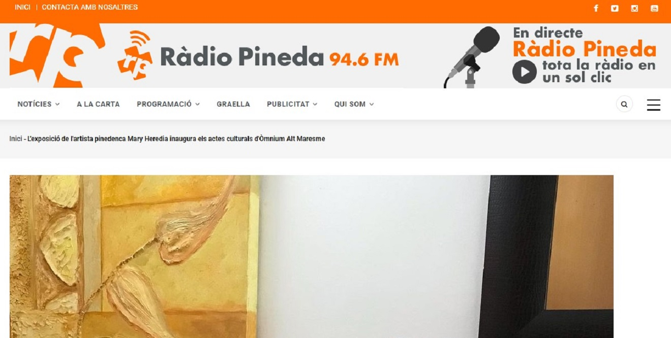 La artista Mary Heredia Perez en Radio Pineda - 09/04/2021 gabinete de prensa