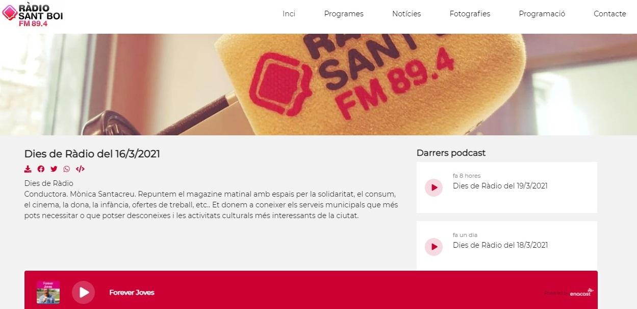 """Glifing en Radio Sant Boi en el minuto 0'12"""" - 16/03/2021 gabinete de prensa"""