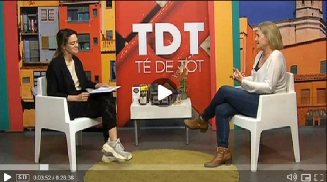 """Montserrat Garcia, directora y creadora de Glifing, entrevistada en el """"Té de tot"""" de TV Girona.- 30/11/2018 gabinete de prensa"""