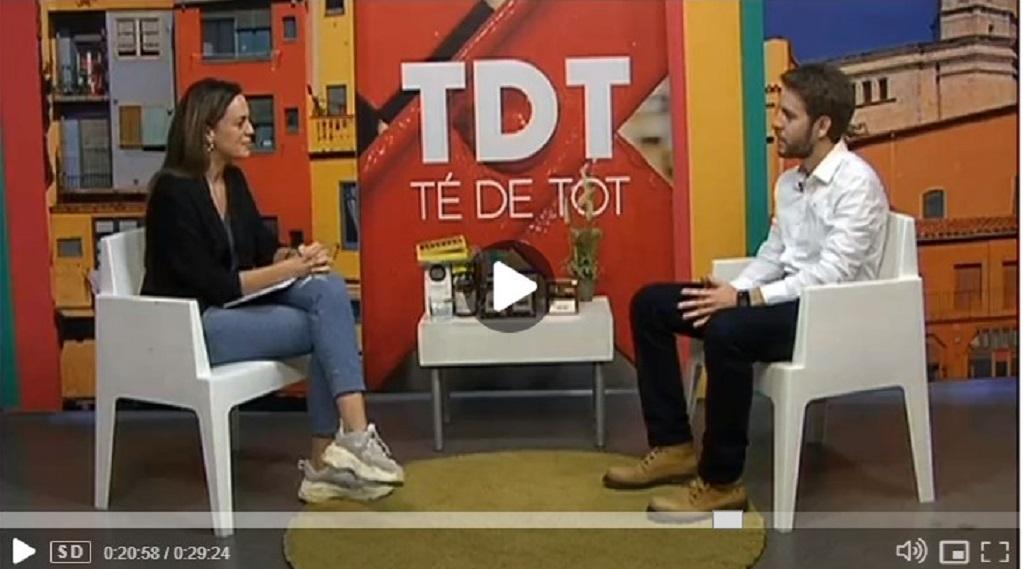 """Cesc Sierra, creador y director de GES4T, en el programa """"Té de tot """"de TV Girona en el minuto 20'26""""- 27/11/2018 gabinete de prensa"""