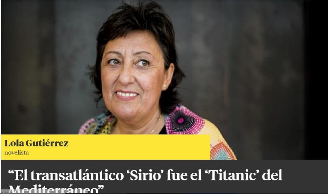 La escritora Lola Gutiérrez en la Contra de la Vanguardia - 24/10/2017 gabinete de prensa