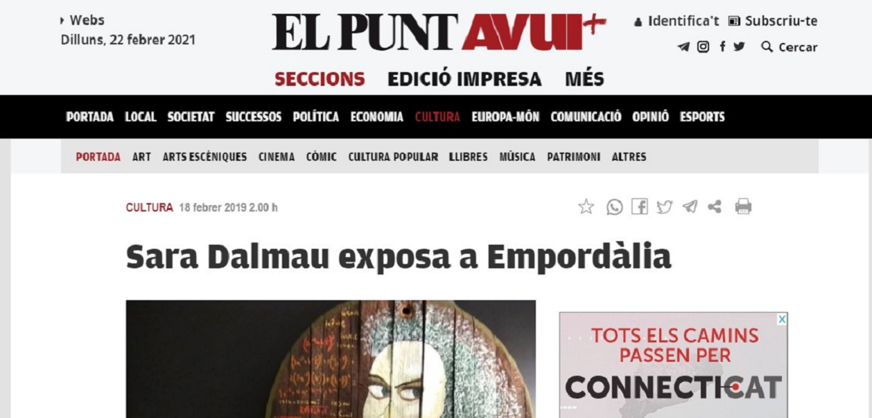 "Sara Dalmau en el ""Punt avui"" -18/02/2019 gabinete de prensa"