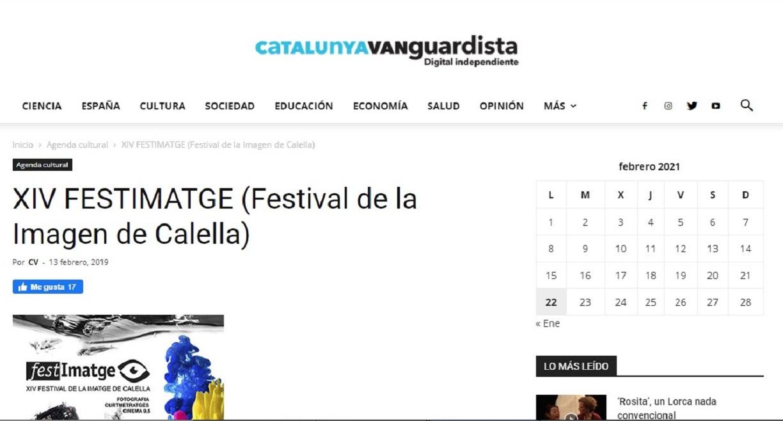 """Festimatge en """"Catalunyavanguardista"""" -13/02/2019 gabinete de prensa"""