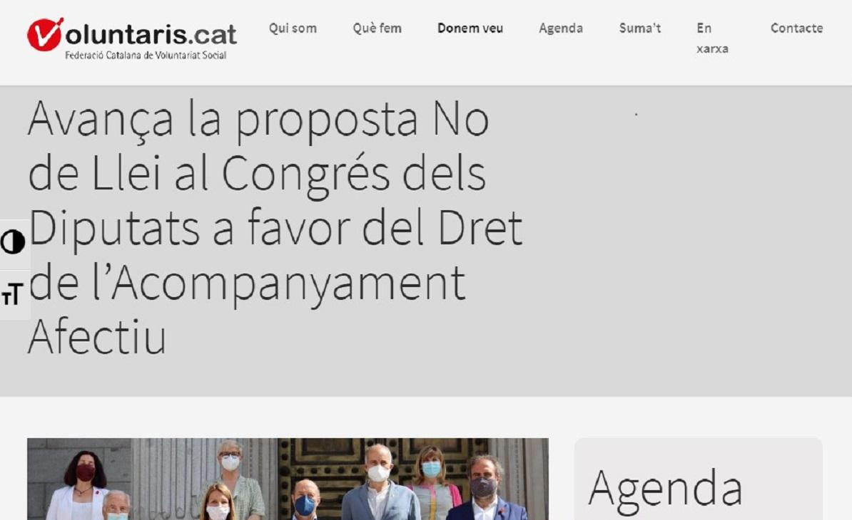 """Som Base y su Drecho a el Acompañamiento Efectivo DA+ en el"""" Voluntaris.cat"""" - 05/07/2021 gabinete de prensa"""