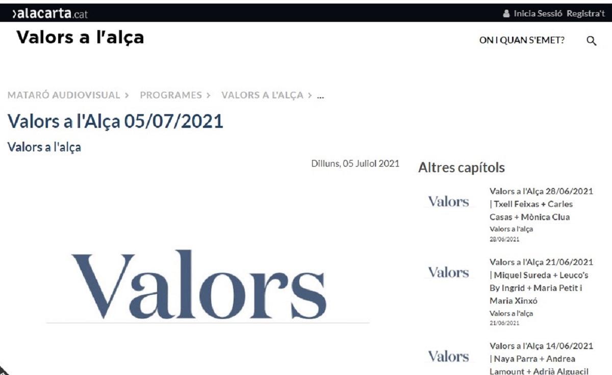 """Som Base en el programa """"Valors a l'alça de la Xarxa Ràdio"""" en el minuto 22'46"""" - 05/07/2021 gabinete de prensa"""