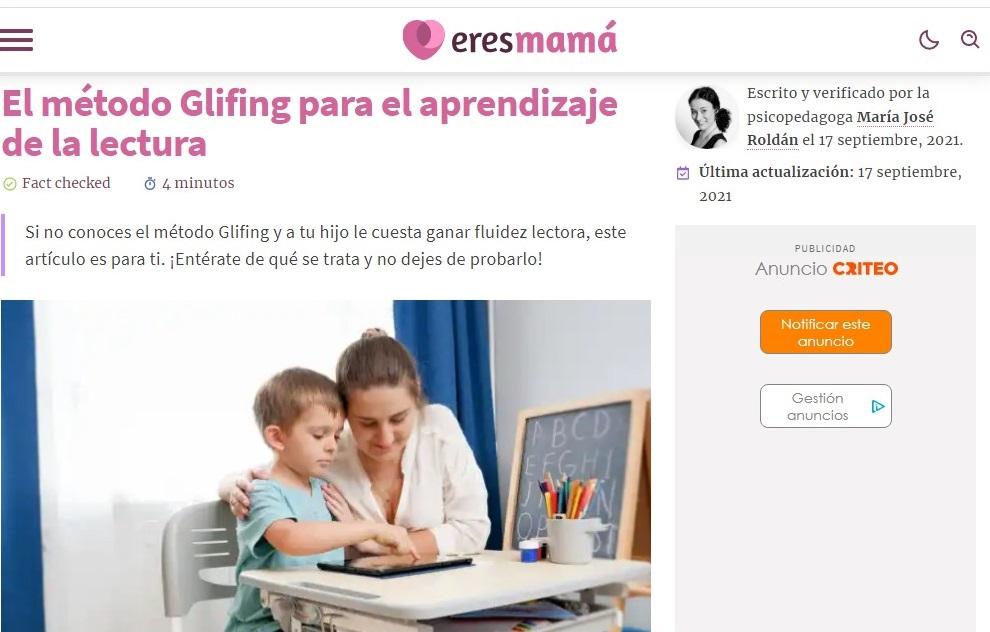 """Glifing en """"Eres mamá""""- 17/09/2021 gabinete de prensa"""